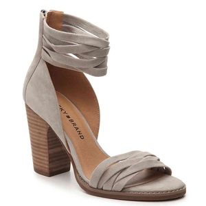Lucky Brand Gray Suede Lakisha Sandals